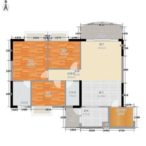 富力广场3室0厅2卫1厨115.00㎡户型图