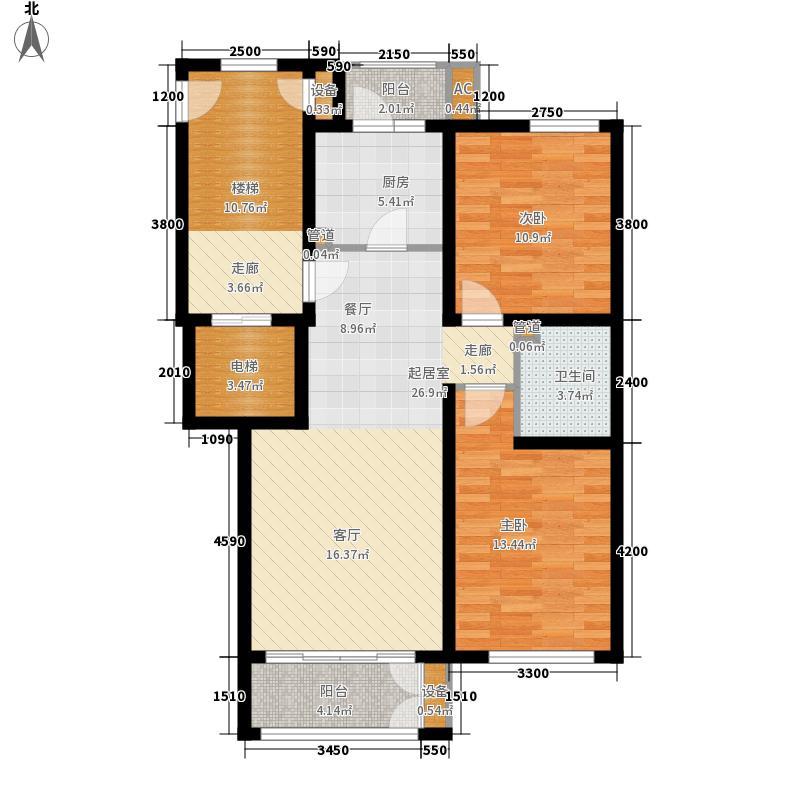 一品嘉园87.00㎡六号楼A1反(售完)户型