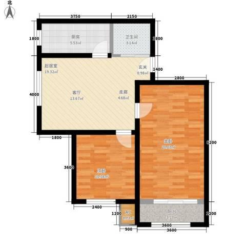 海威住宅小区2室0厅1卫1厨90.00㎡户型图