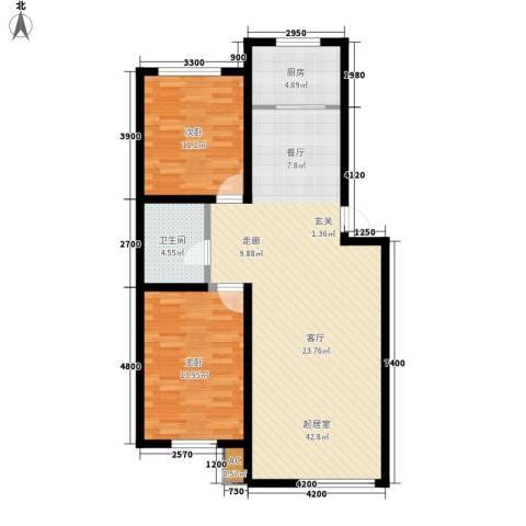 海威住宅小区2室0厅1卫1厨109.00㎡户型图