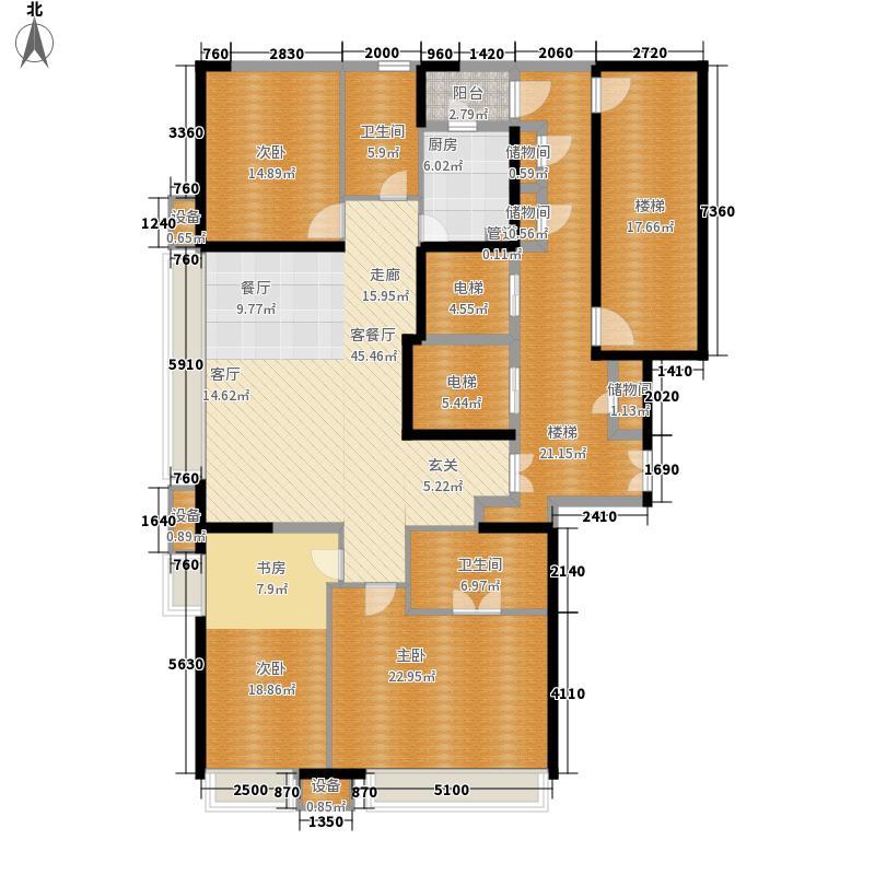 金融街融御183.00㎡高层标准层C户型4室2厅