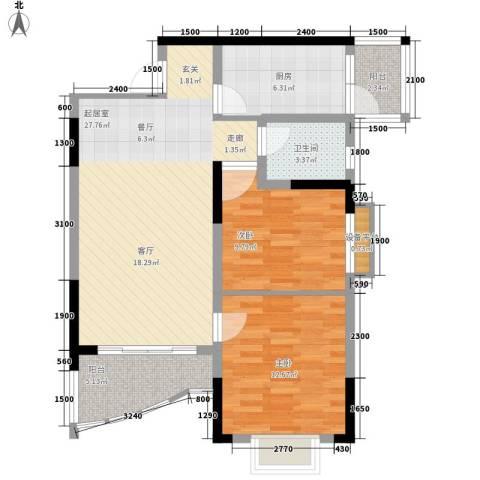 青河世家2室0厅1卫1厨73.00㎡户型图