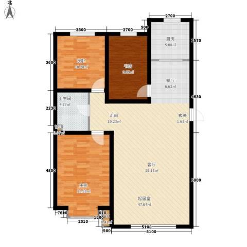 海威住宅小区3室0厅1卫1厨134.00㎡户型图