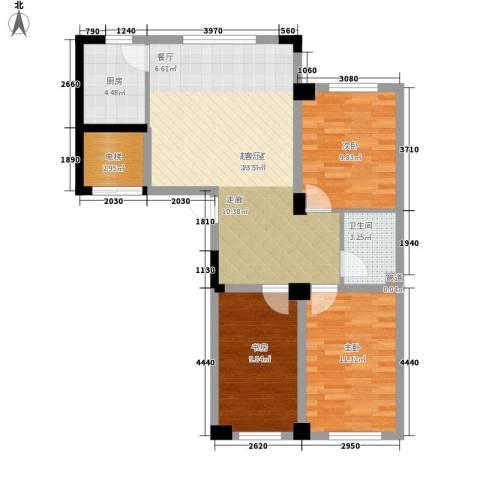 实华・新兴佳园3室0厅1卫1厨101.00㎡户型图