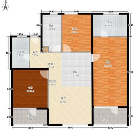 瑞江花园兰苑3室0厅2卫1厨218.00㎡户型图