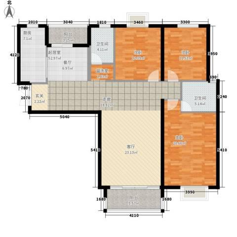 谈固国瑞城3室0厅2卫1厨137.00㎡户型图