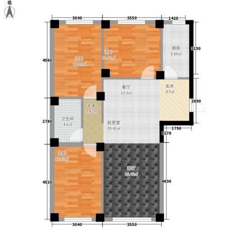 实华・新兴佳园3室0厅1卫1厨111.00㎡户型图