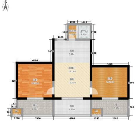 宝枫佳苑2室1厅1卫1厨103.00㎡户型图