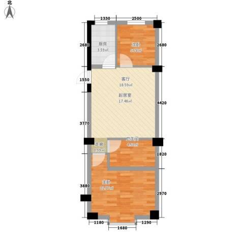 实华・新兴佳园2室0厅1卫1厨62.00㎡户型图