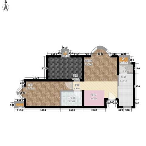 欧美风情小镇2室0厅1卫1厨78.00㎡户型图