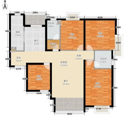 谈固国瑞城4室0厅2卫1厨148.00㎡户型图