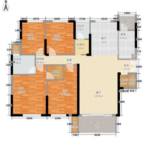 青园小区4室0厅2卫1厨162.00㎡户型图