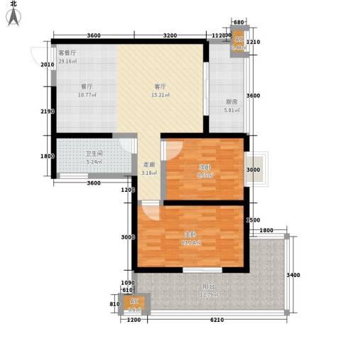 宝枫佳苑2室1厅1卫1厨105.00㎡户型图