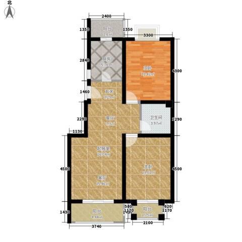 金榜名苑2室0厅1卫1厨101.00㎡户型图