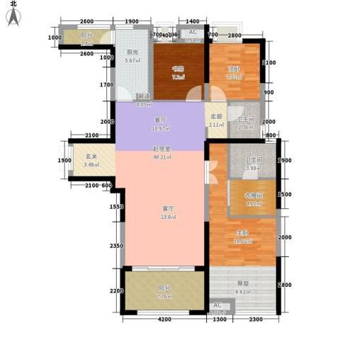 福苑小区3室0厅2卫1厨143.00㎡户型图