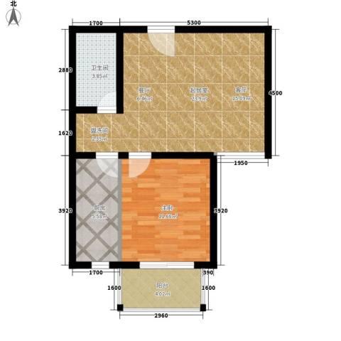 金榜名苑1室0厅1卫1厨70.00㎡户型图