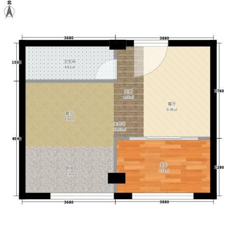 金谷鑫城三期1室0厅1卫0厨46.00㎡户型图