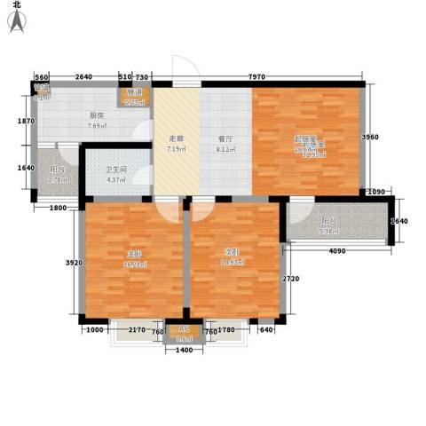 金苑新村2室0厅1卫1厨95.00㎡户型图