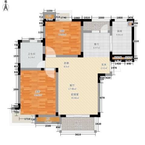 嘉馨苑2室0厅1卫1厨105.00㎡户型图