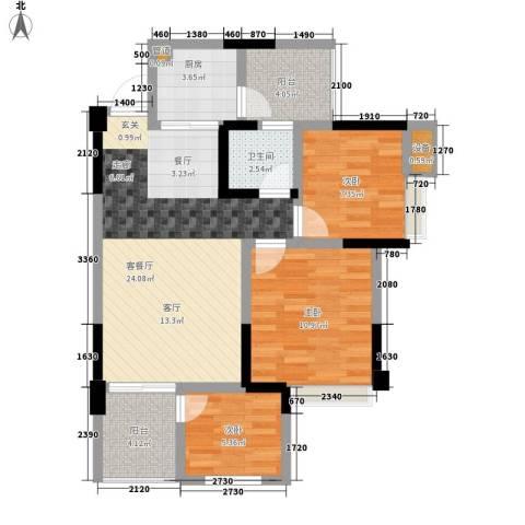 星东・上海花园3室1厅1卫1厨73.76㎡户型图