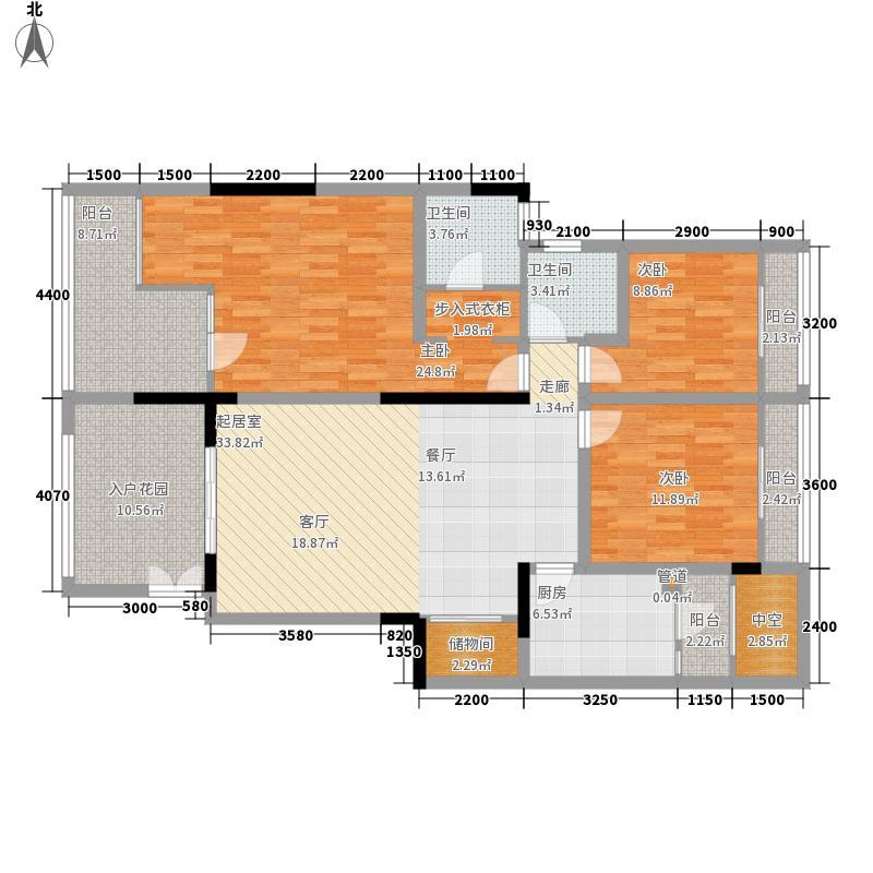 万科缇香郡112.00㎡三组团4号楼D面积11200m户型