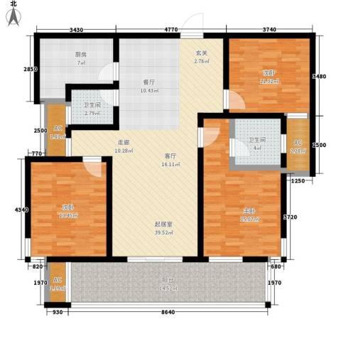 君悦半岛3室0厅2卫1厨130.00㎡户型图