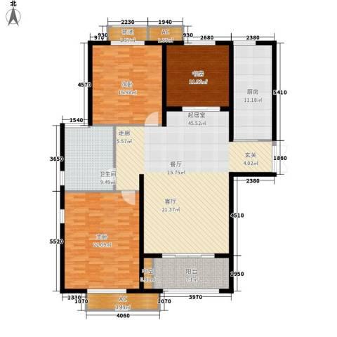 明辉花园3室0厅1卫1厨145.00㎡户型图