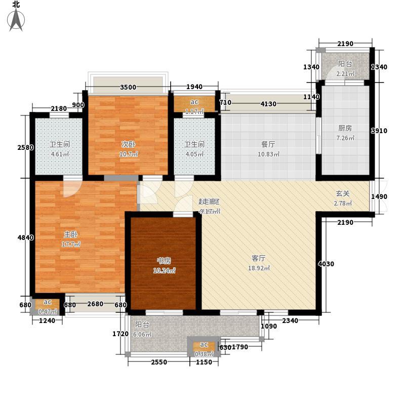 中海华庭125.00㎡面积12500m户型