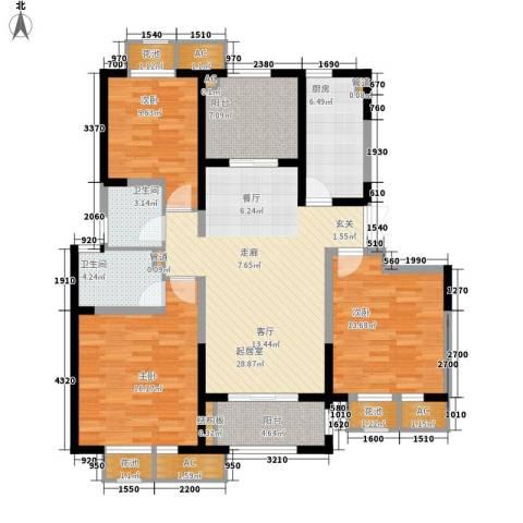 置地青湖语城3室0厅2卫1厨119.00㎡户型图