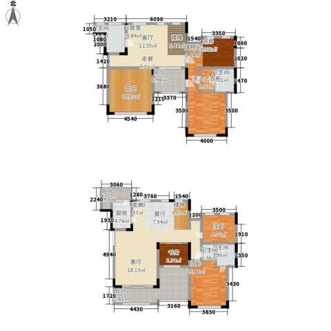 东原中央美地4室1厅4卫1厨204.15㎡户型图