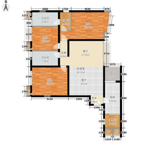 天誉花园3室0厅2卫1厨147.00㎡户型图