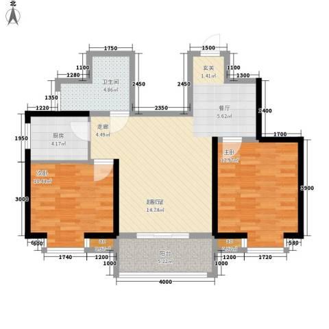 万华园上观苑2室0厅1卫1厨74.52㎡户型图