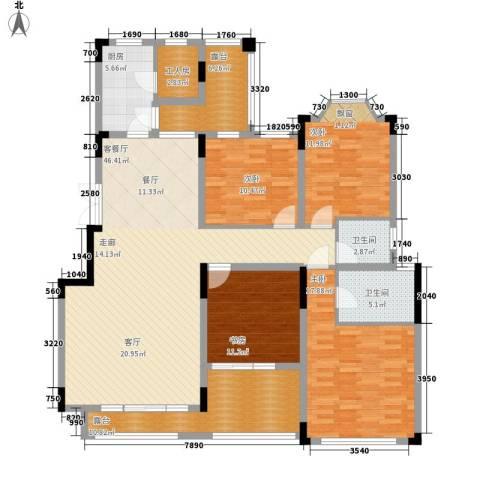 东原中央美地4室1厅2卫1厨136.00㎡户型图