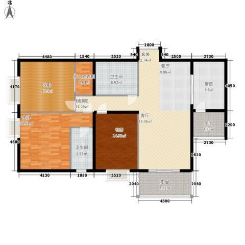 海佳云顶3室0厅2卫1厨152.00㎡户型图