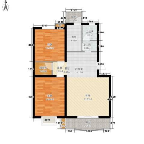 26度家园2室0厅1卫1厨108.00㎡户型图