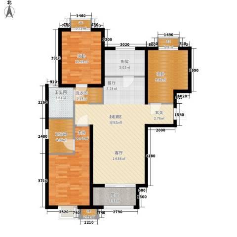 26度家园3室0厅2卫1厨118.00㎡户型图