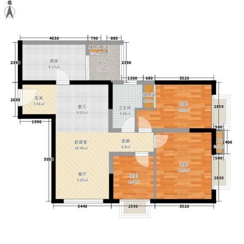 天誉花园3室0厅1卫1厨86.00㎡户型图