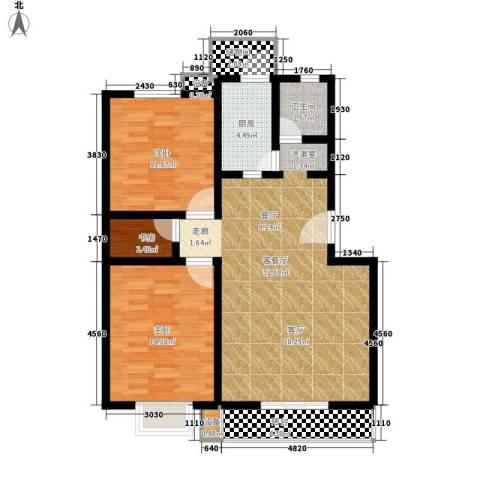 龙江秀水园3室1厅1卫1厨110.00㎡户型图
