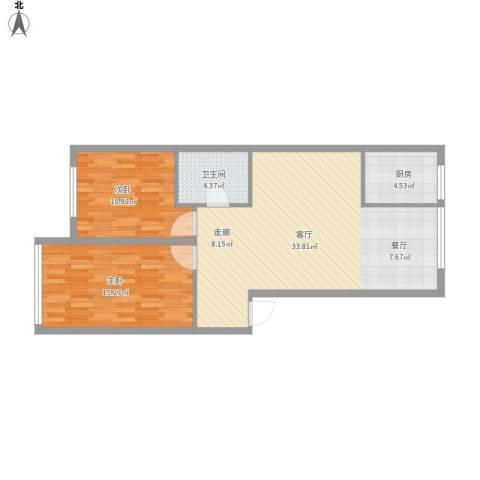 文祥豪府三期2室1厅1卫1厨95.00㎡户型图