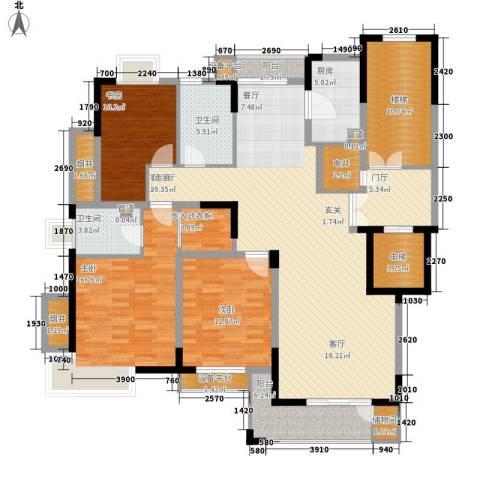 嘉业・阳光城3室1厅2卫1厨147.00㎡户型图