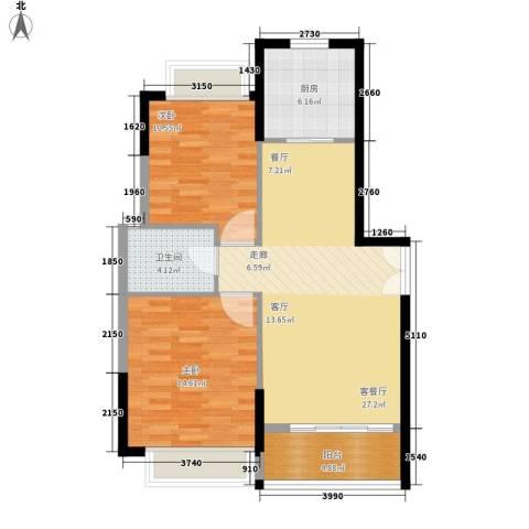 金水花园2室1厅1卫1厨93.00㎡户型图