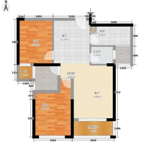 青园小区2室0厅1卫1厨89.00㎡户型图