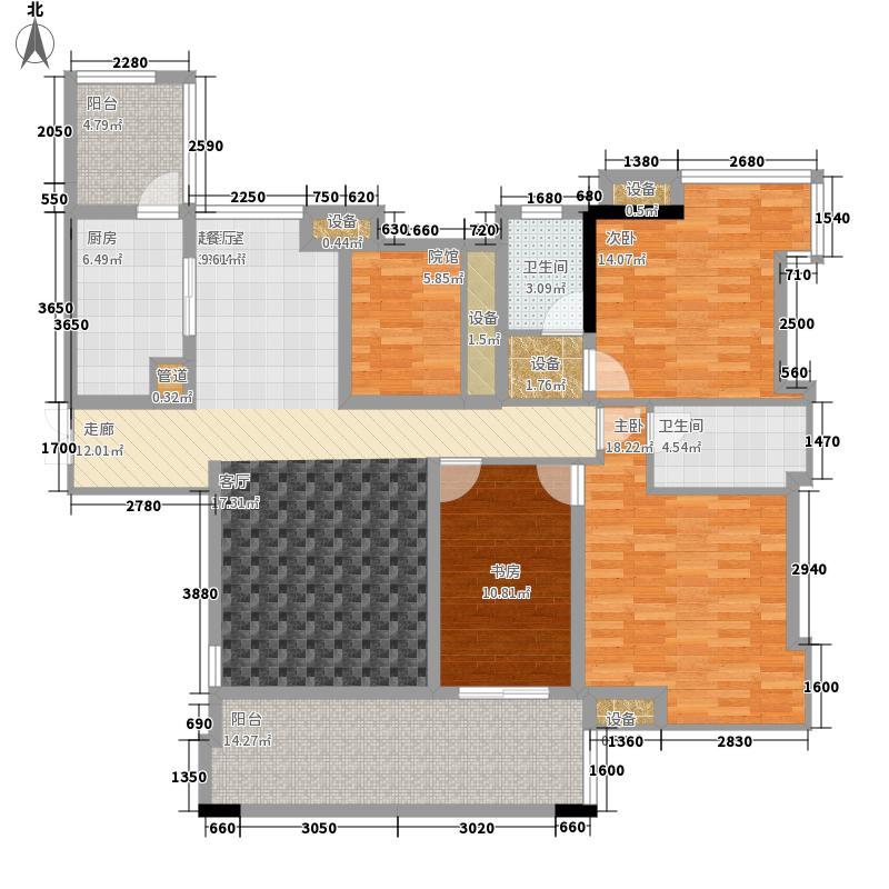复地天玺121.00㎡一期67、68号楼面积12100m户型