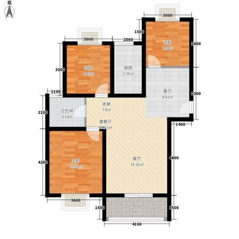 易合坊3室1厅1卫1厨110.00㎡户型图