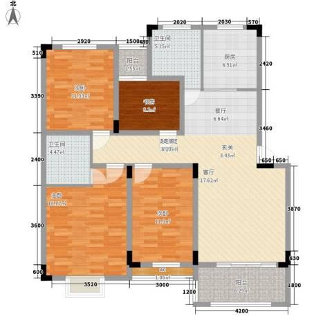 武机宿舍4室0厅2卫1厨149.00㎡户型图