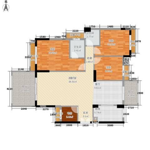长沙玫瑰园4室0厅2卫1厨145.00㎡户型图