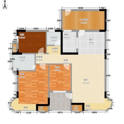 孔目江1号3室0厅2卫1厨135.00㎡户型图