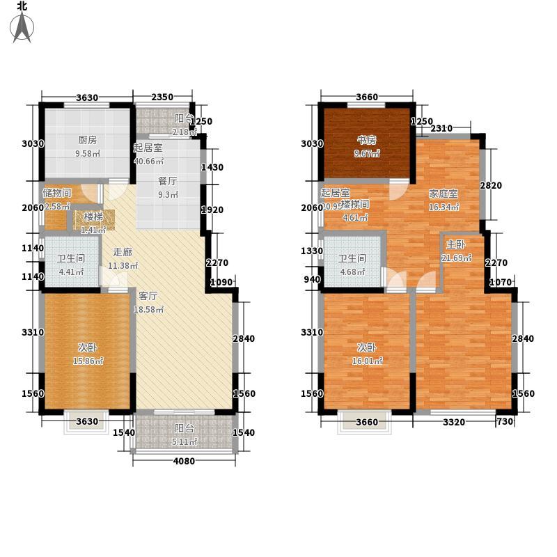 颐和府邸178.59㎡H1户型4室3厅