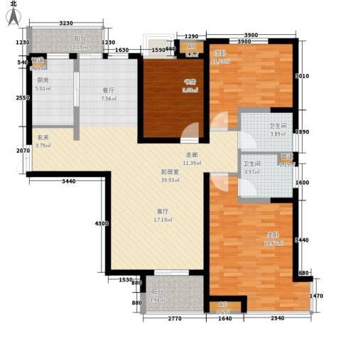 西市佳园3室0厅2卫1厨127.00㎡户型图
