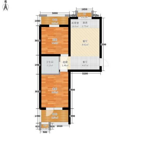 五岳溪谷2室0厅1卫0厨65.00㎡户型图